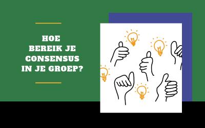 6 (of eigenlijk veel meer) werkvormen om consensus te bereiken