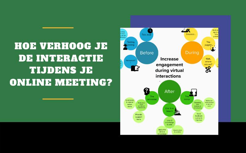 Infographic: Hoe verhoog je de interactie tijdens je online meeting