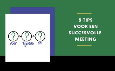 9 tips voor een succesvolle meeting